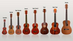 Le diverse taglie dell'ukulele